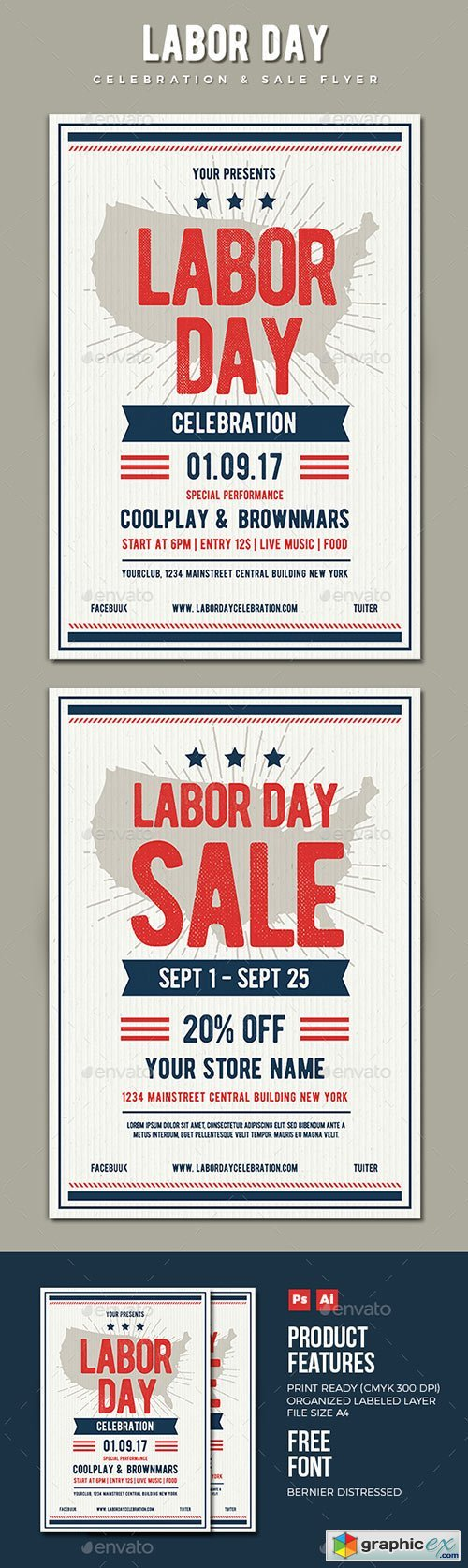 Labor Day Flyer 17625345