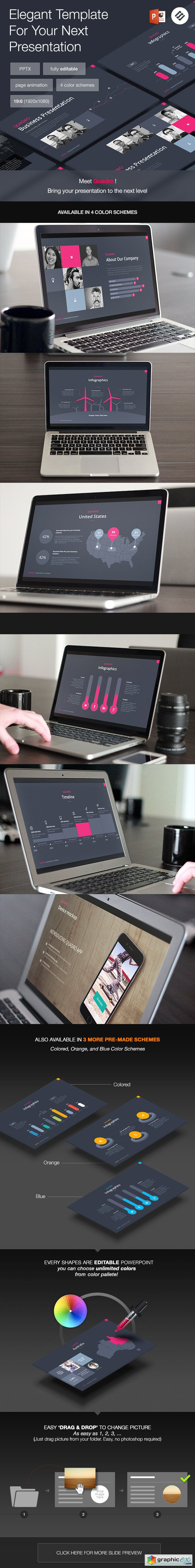 Quadro - Multipurpose Powerpoint Template » Free Download Vector