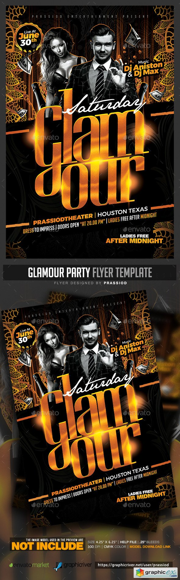 Glamour Party Flyer Template 20371798