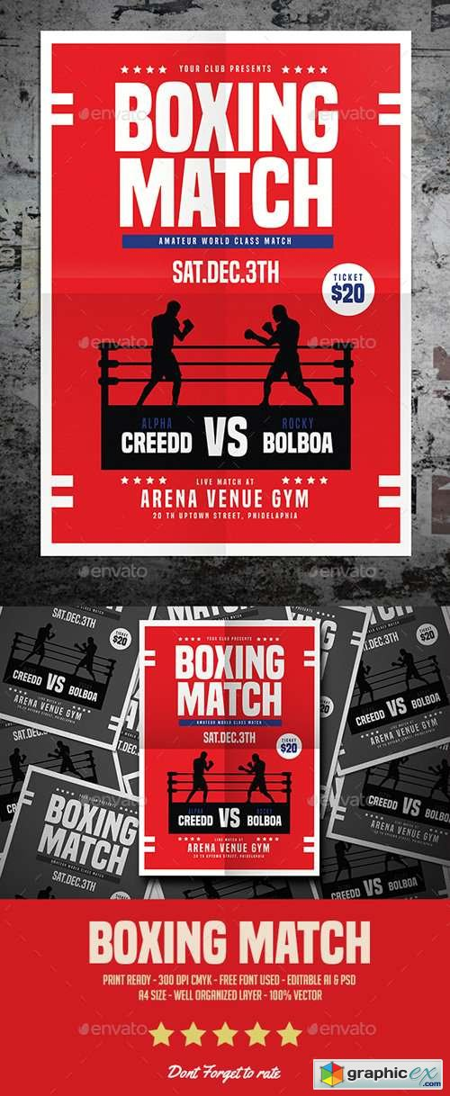 Boxing Match Flyer 17280797