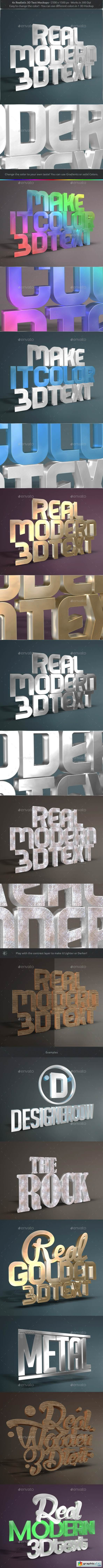 Real 3D Text Mockups V2
