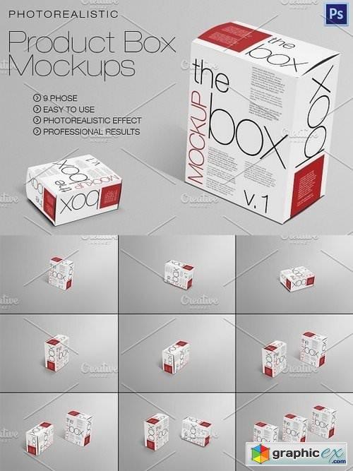 Product / Box Mockups 9 Scene
