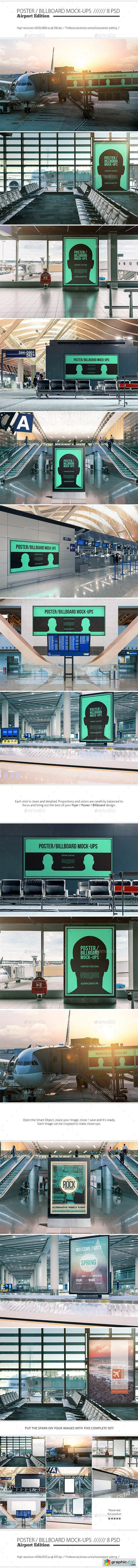 Poster / Billboard Mock-ups - Airport Edition