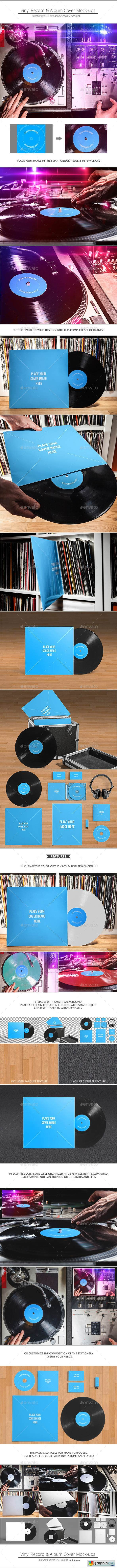 Vinyl Record & Album Cover Mock-ups - Party Pack