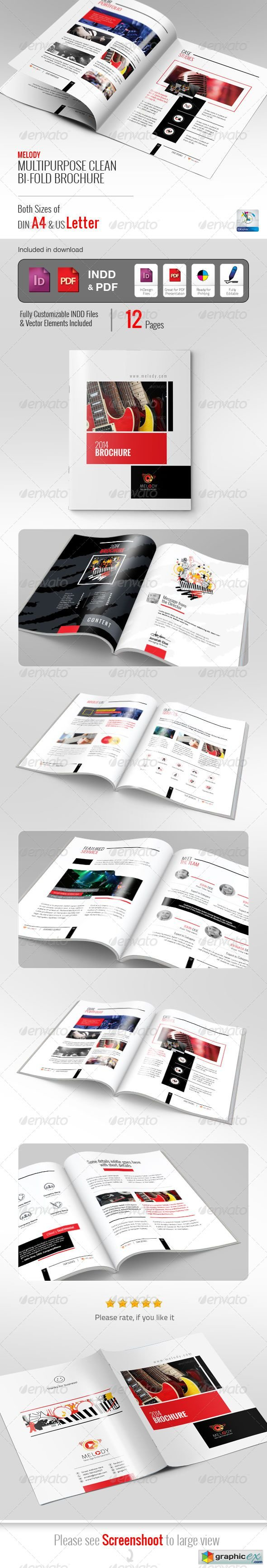 Melody Clean Bifold Brochure