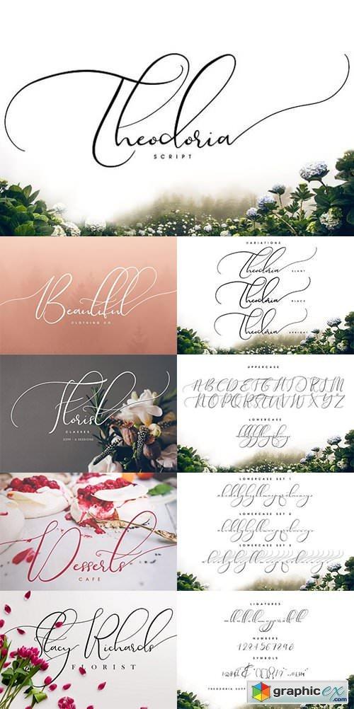 Download Theodoria Script Font » Free Download Vector Stock Image ...