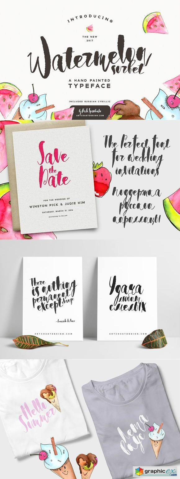 Watermelon Sorbet Brush Script Fonts