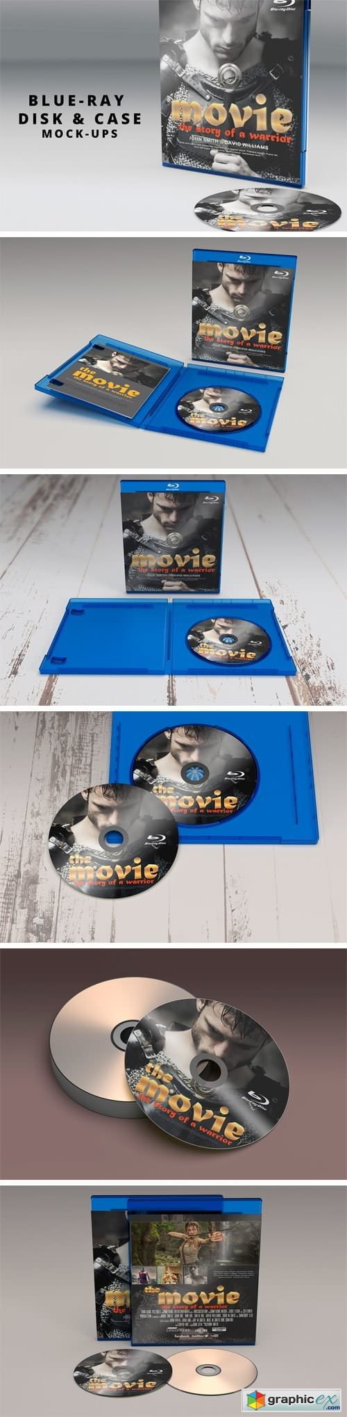 Blue Ray Disk & Cover Mockup
