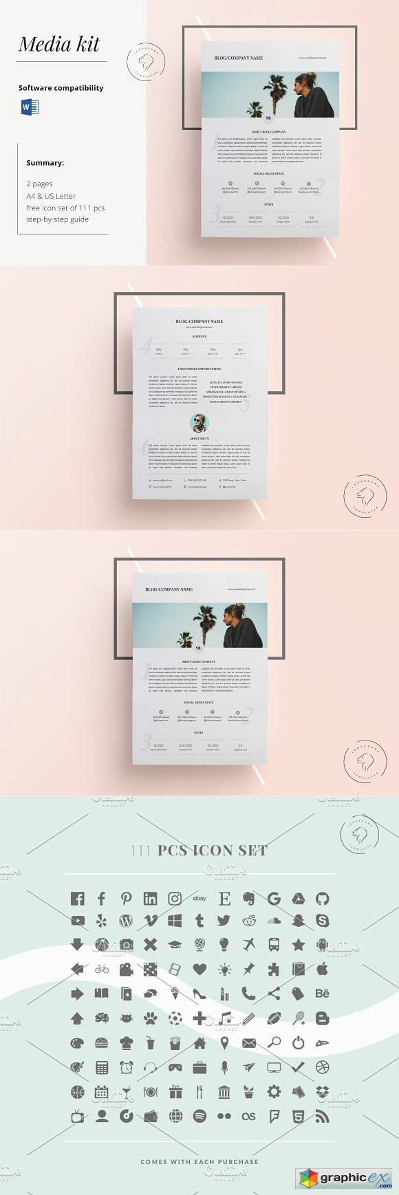 Media Kit Template 2 Pages