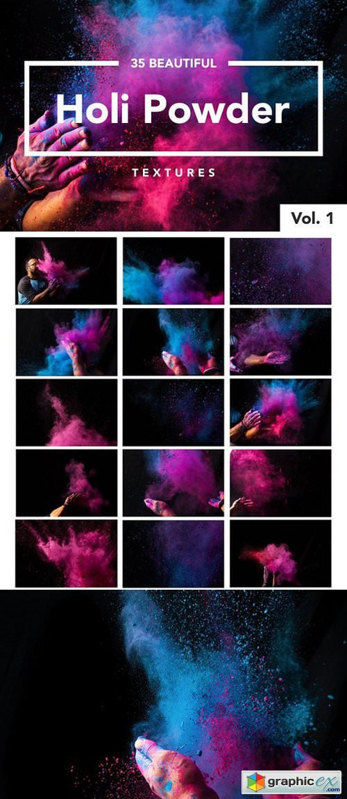 Holi Color Powder Dust Textures