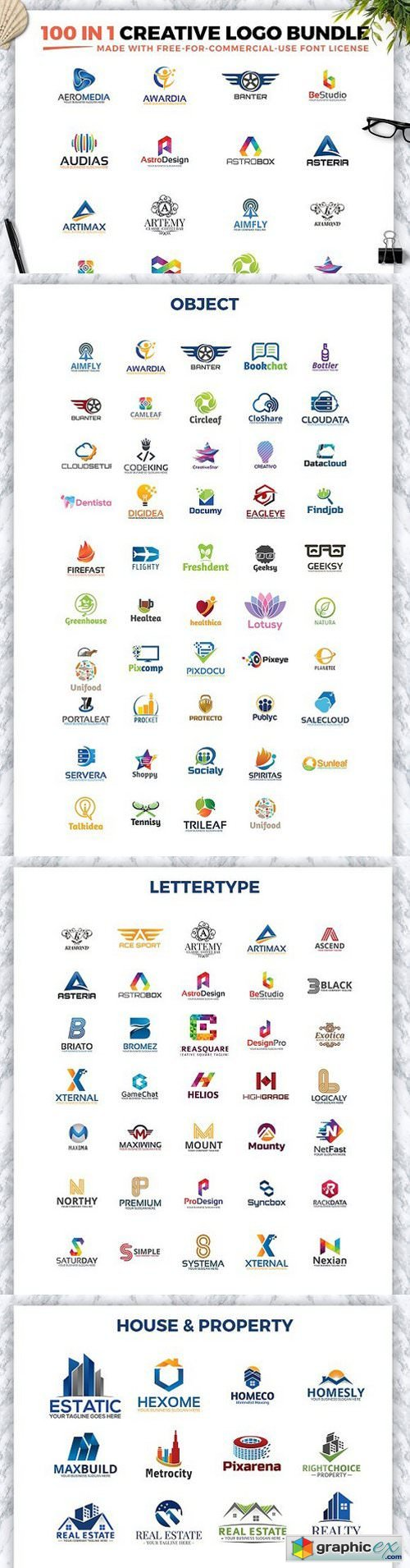 100 IN 1 CREATIVE LOGO BUNDLE