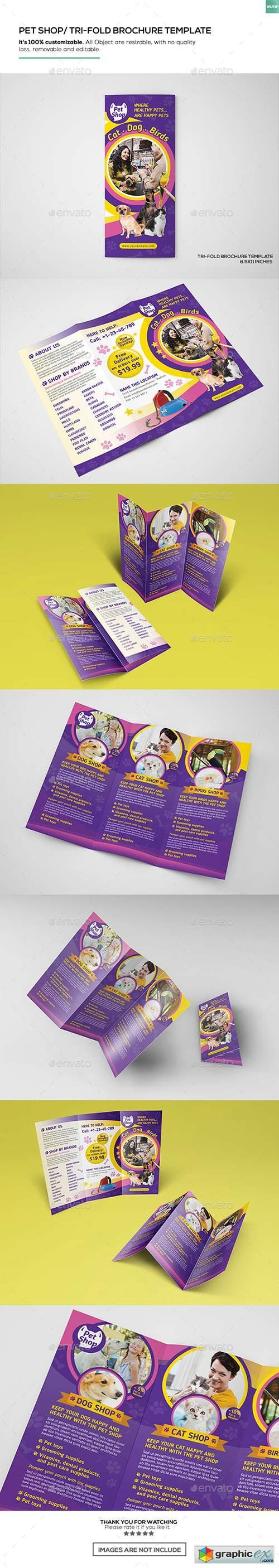 Pet Store/ Trifold Brochure Template