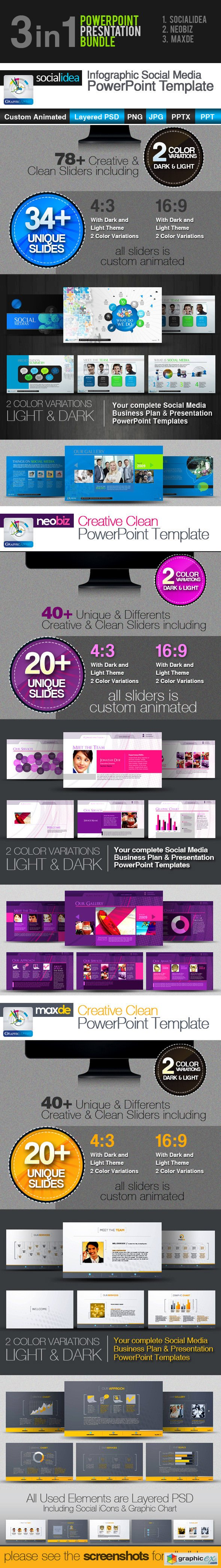 3in1: PowerPoint Templates Bundle