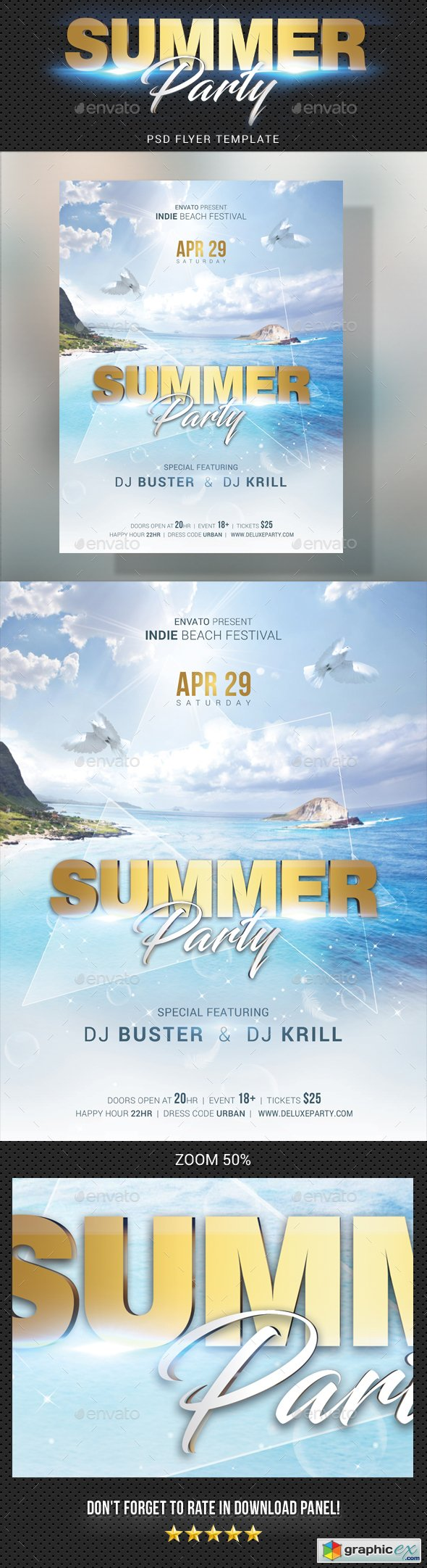 Summer Dj Party Flyer