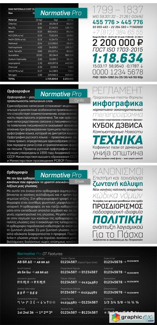 Normative Pro Font Family