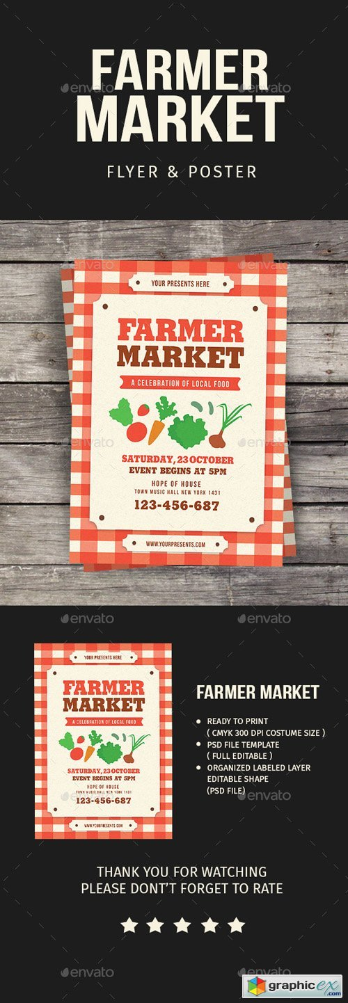 Farmer Market Event Flyer 20455571