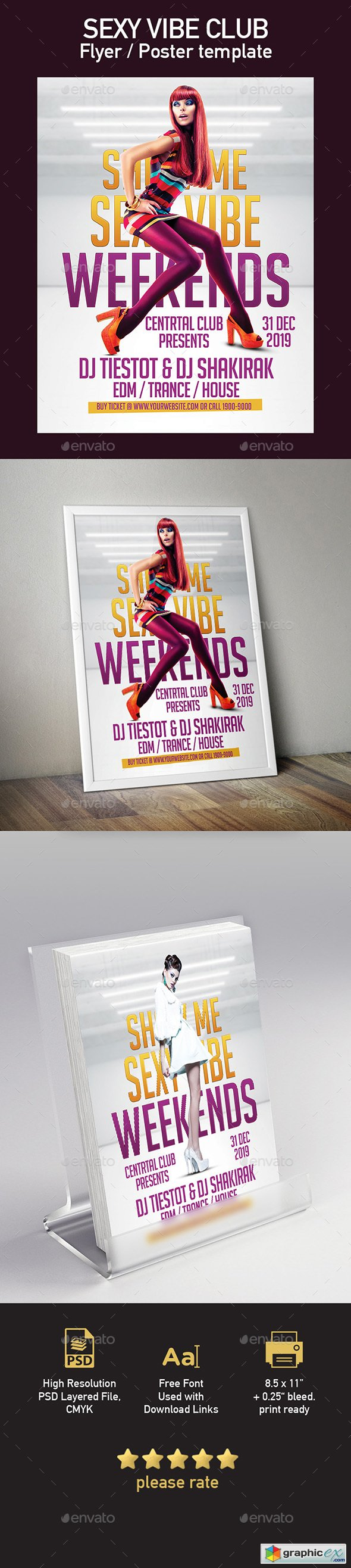 Sexy Vibe Club Flyer Poster Template