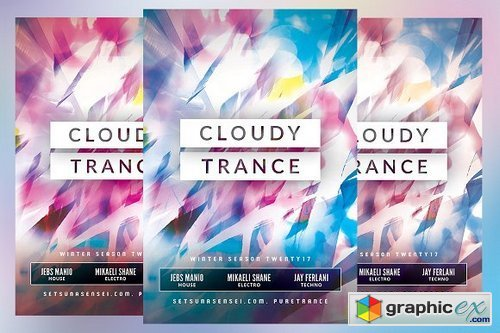 Cloudy Trance Flyer