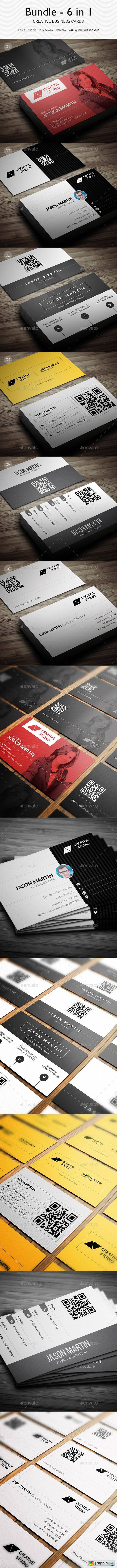 Bundle - 6 in 1 - Creative Business Cards - B29