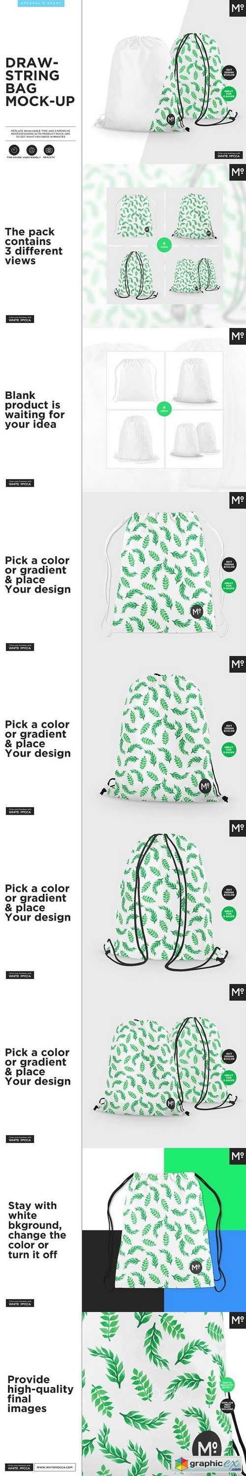 Drawstring Bag Mock-up