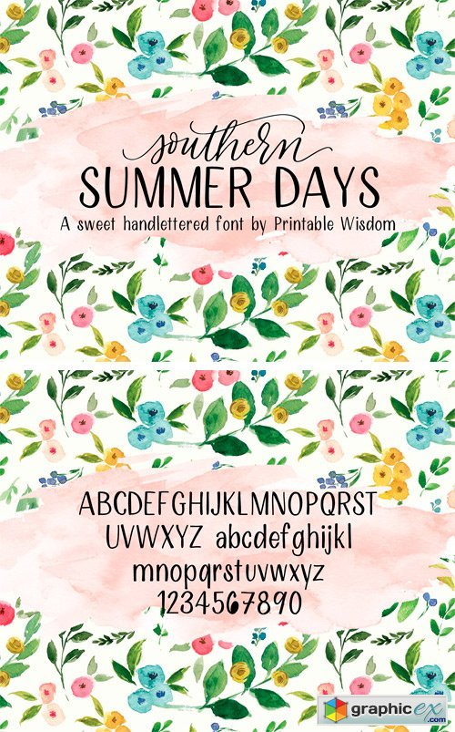 Southern Summer Days Font