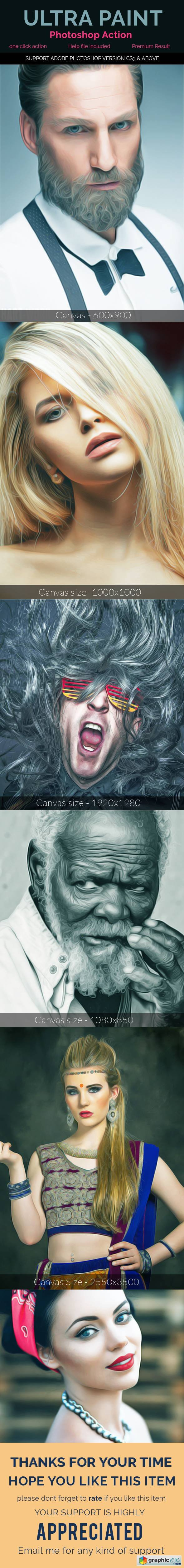 Realistic Painting Effect - Photoshop Action 20418639