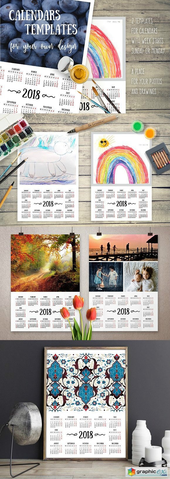 2018 Calendars For Your Own Design