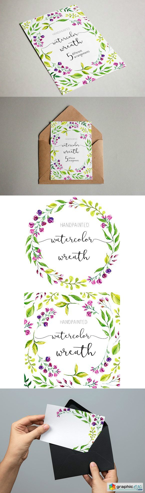 Watercolor wedding clipart flower