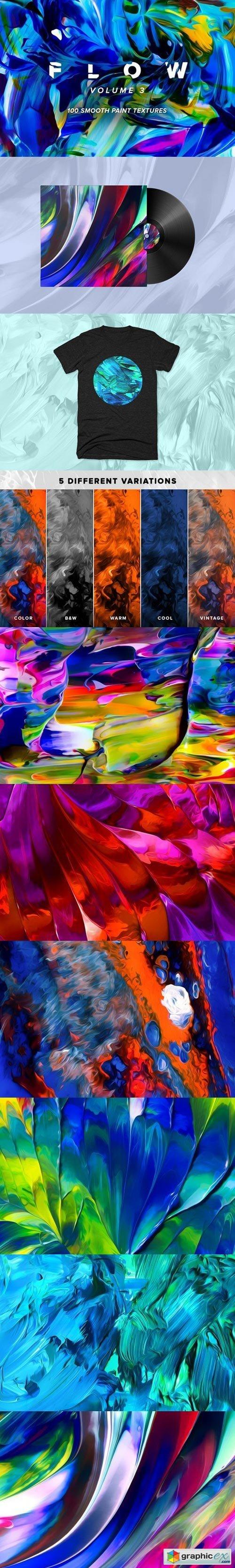 Flow, Vol. 3: 100 fluid paintings