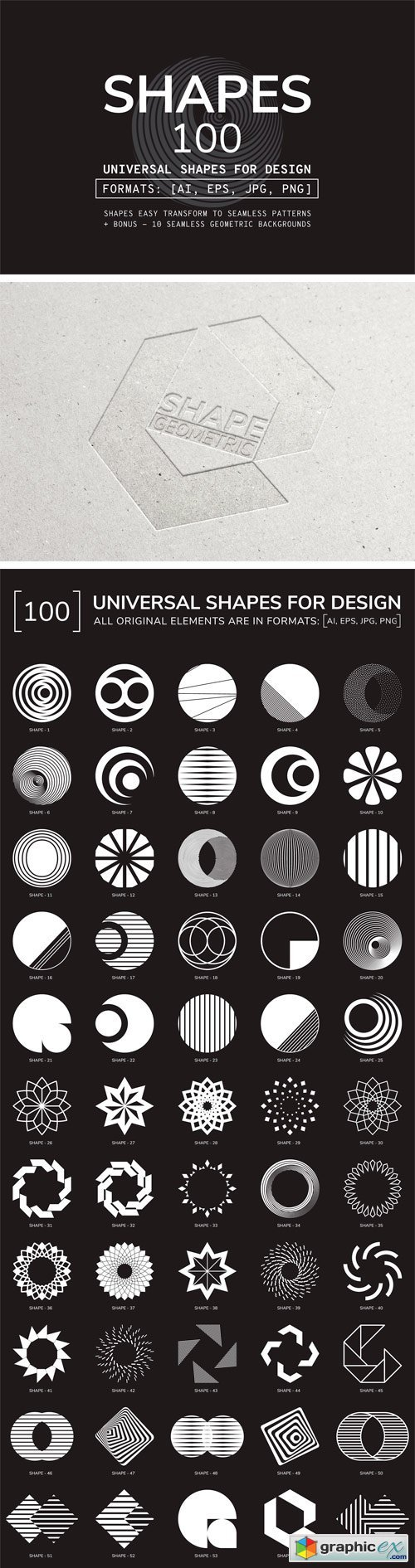 100 Geometric Shapes. Part 2