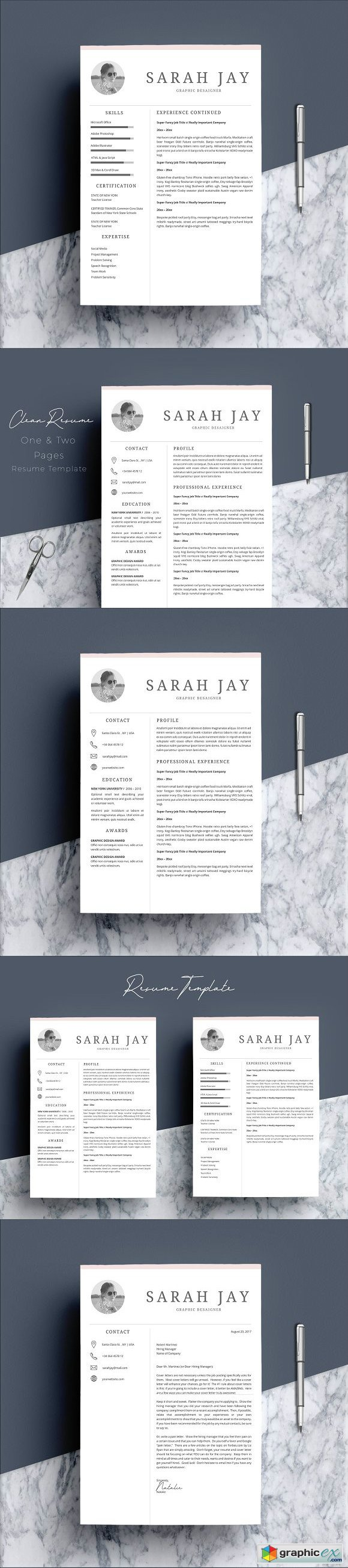 Resume Template 4 pages Clean