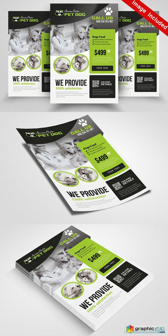 Pet Shop Flyer Template 1848020 Free Download Vector Stock Image
