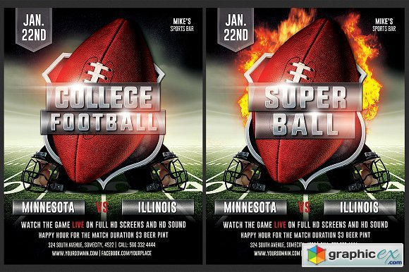 american football flyer template 1847289  u00bb free download