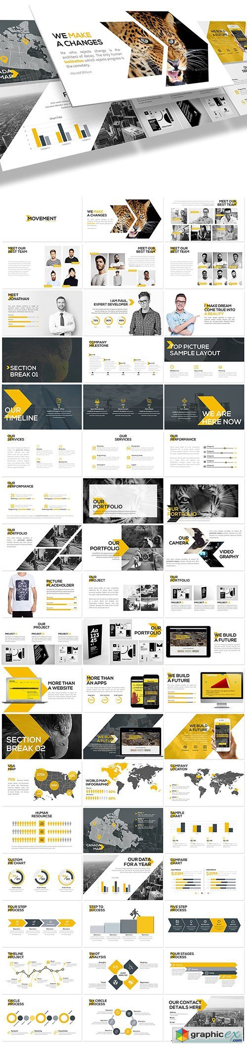 Movement - Swiss Powerpoint Template