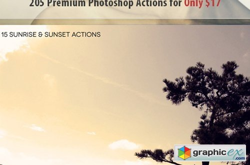InkyDeals - 205 Magnificent Photoshop Actions
