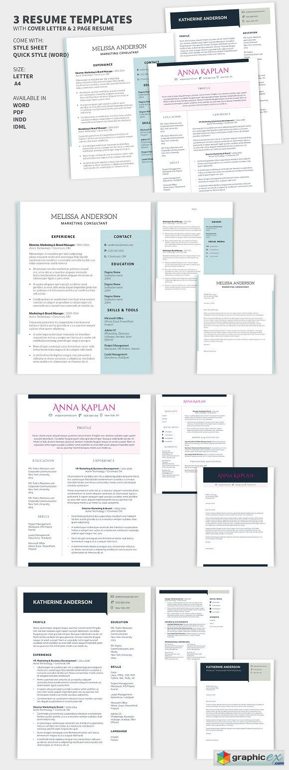 Bundle Cover Letter & 2 Page Resume
