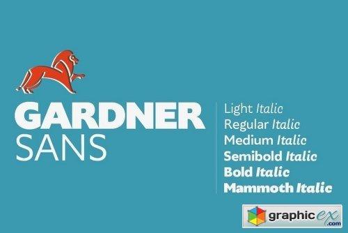 Gardner Sans Font Family - 12 Fonts » Free Download Vector
