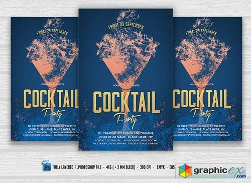 Cocktail Party Flyer 1618393