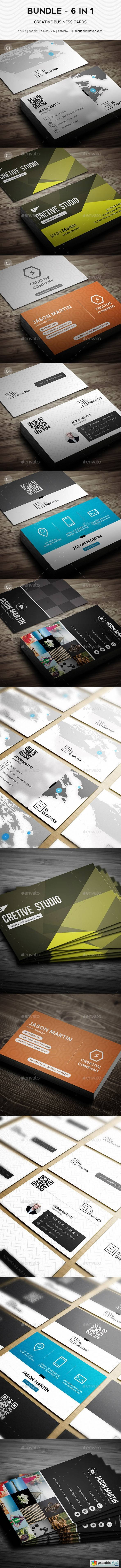 Bundle - 6 in 1 - Pro Creative Business Cards - B52