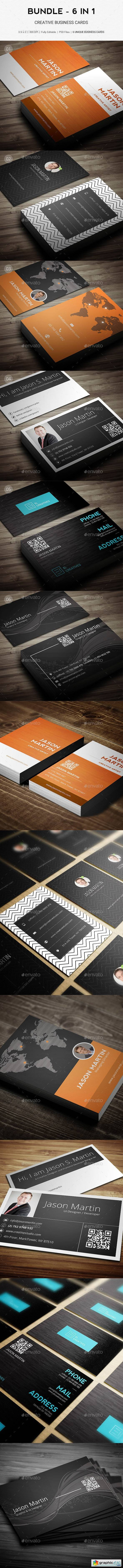 Bundle - Pro 6 in 1 - Creative Business Cards - B49