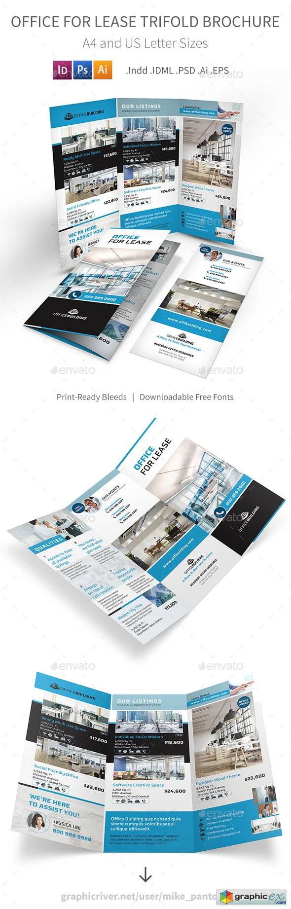 Office For Lease Trifold Brochure