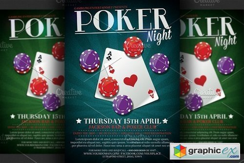 Poker Night Flyer Template 62028 Free Download Vector