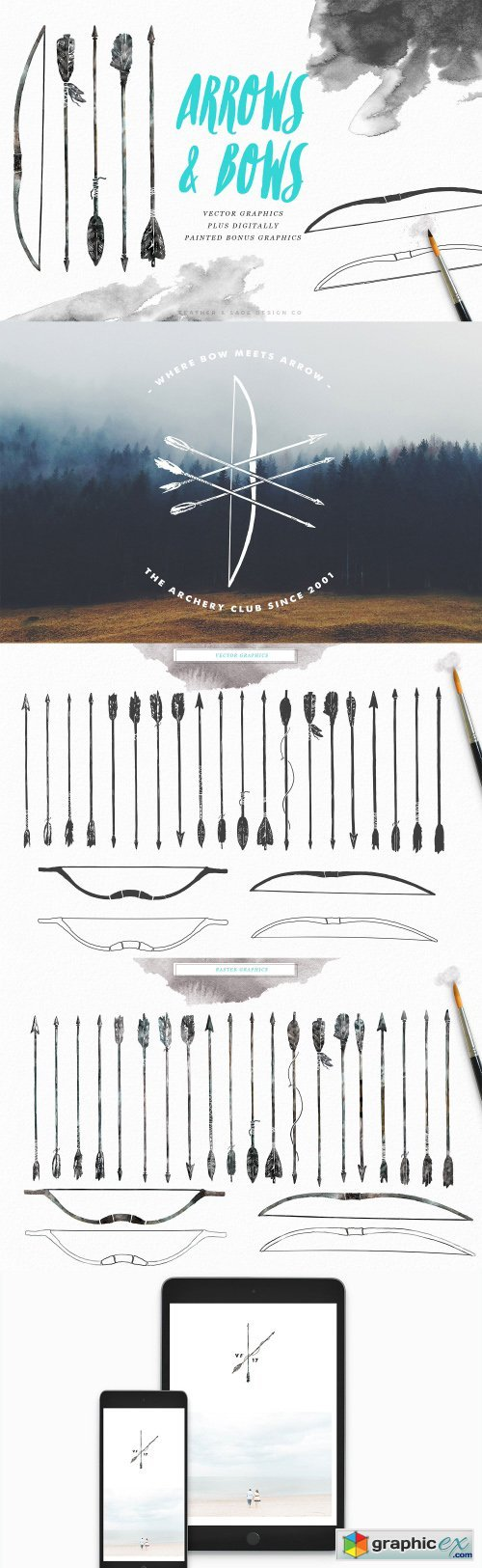 [30% OFF] Hand-Drawn Arrows & Bows