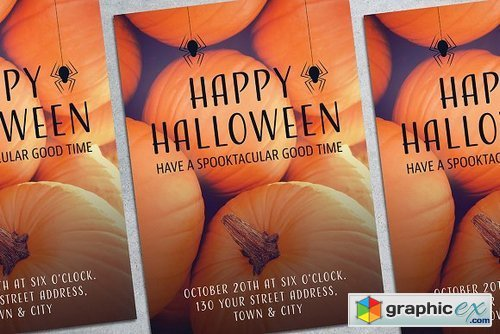 Halloween Party Poster Mockup 1834366