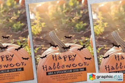 Halloween Party Poster Mockup 1834387