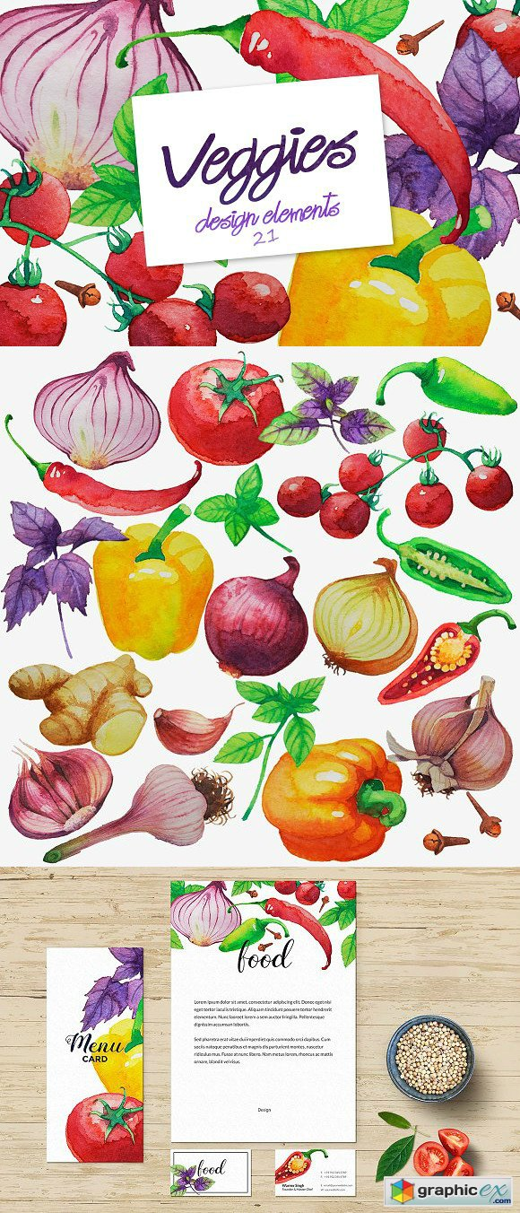 Watercolor Vegetables 1861598