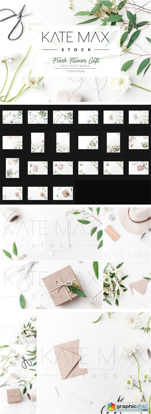 Flower Gift Wrap Stock Photos
