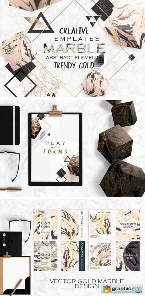 Gold & MARBLE - Creative Cards
