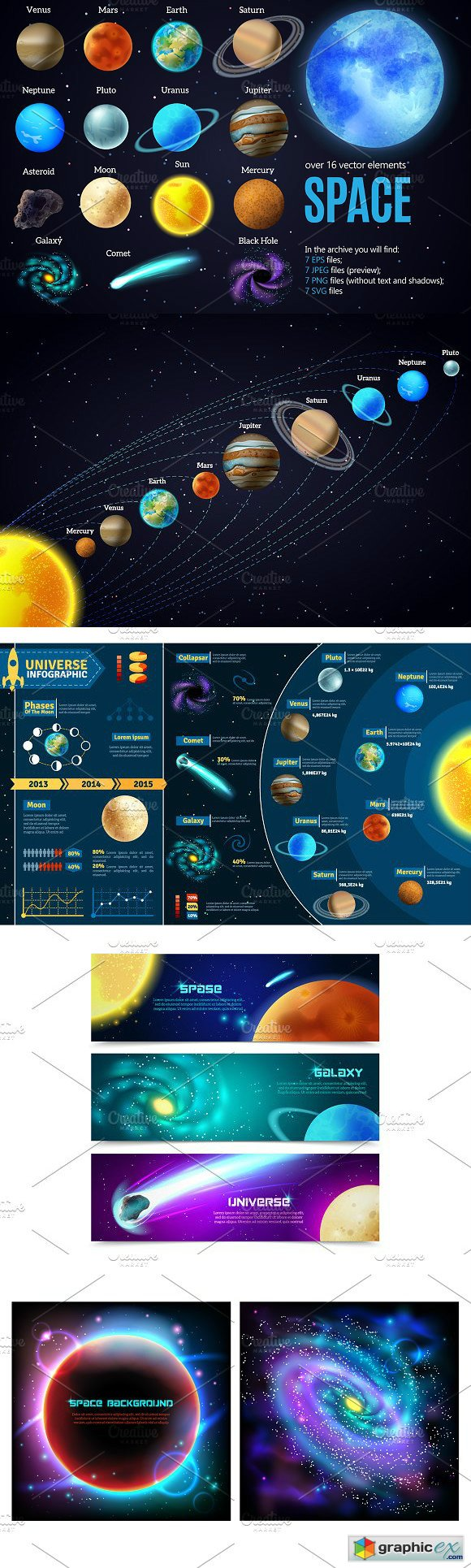 Outer Space and Planets Set