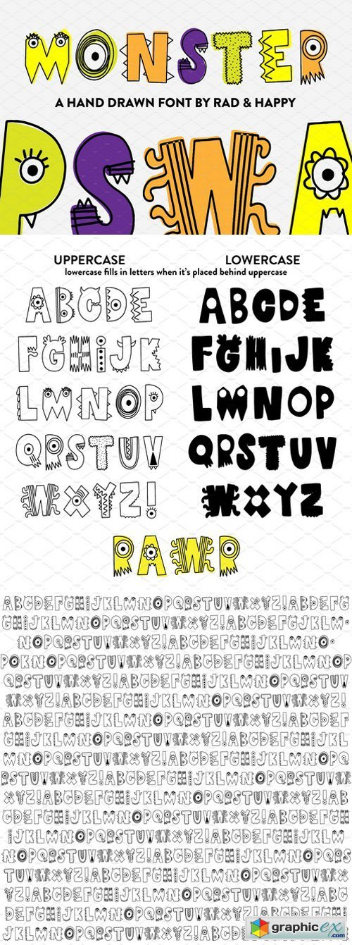 Monster | Hand Drawn Font